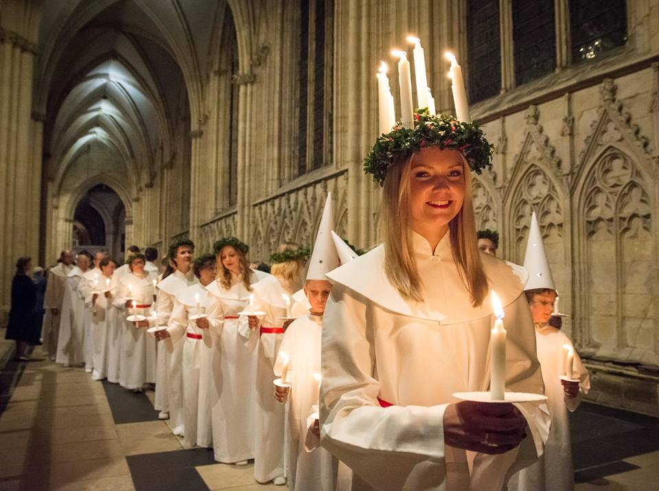 Sankta Lucia in York Minster - The Choir from Sweden in 2015
