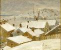 Fiskebäckskil, winter, by Carl Wilhelmson
